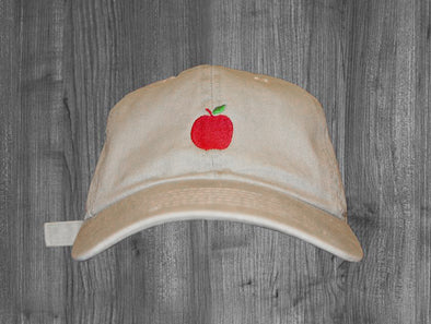 HUSTLE DAD HAT.  SAND / RED, GREEN
