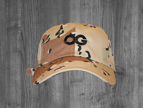 OG DAD HAT.  DESERT CAMO / BLACK