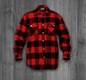 ENVIRONMENT / OG FLANNEL.  RED