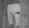 OG SHORTS.  HEATHER GREY / RED & BLACK