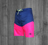 OG BOARD SHORTS.  NAVY & MAGENTA