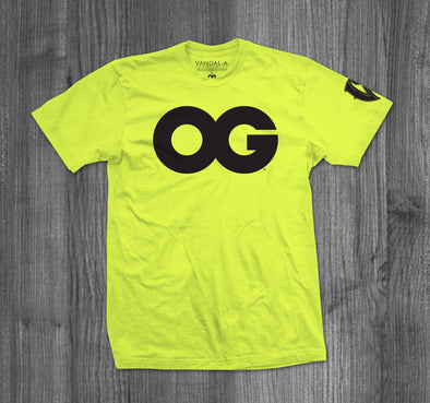 OG T-SHIRT.  NEON YELLOW / BLACK