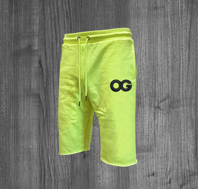 OG SHORTS.  NEON YELLOW / BLACK