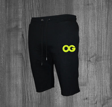 OG SHORTS.  BLACK / NEON YELLOW
