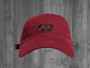 OG DAD HAT.  MAROON / BLACK