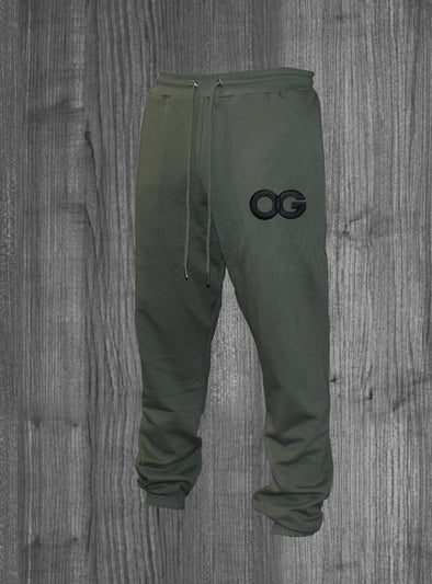 OG SWEATPANTS.  OLIVE GREEN / BLACK