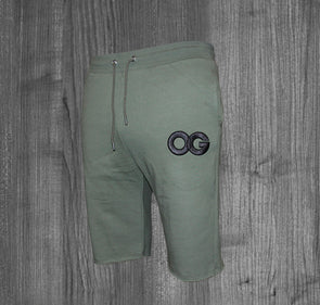 OG SHORTS.  OLIVE GREEN / BLACK