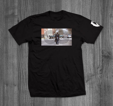 OMAR COMING T-SHIRT.  BLACK