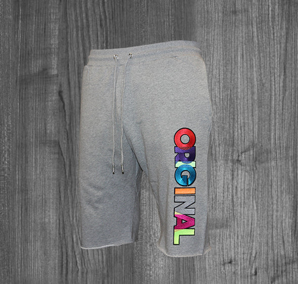 ORIGINAL SHORTS.  HEATHER GREY / MULTI COLOR