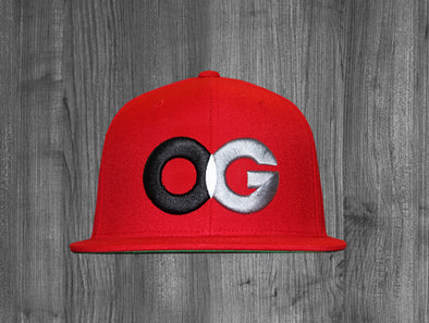 OG SNAP BACK.  RED / BLACK, WHITE, GREY