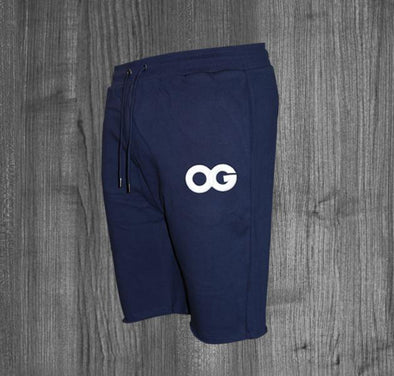 OG SHORTS.  NAVY BLUE / WHITE