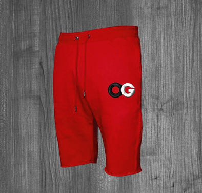 OG SHORTS.  RED / BLACK, WHITE, GREY