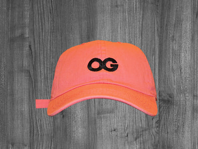 OG DAD HAT.  SALMON / BLACK