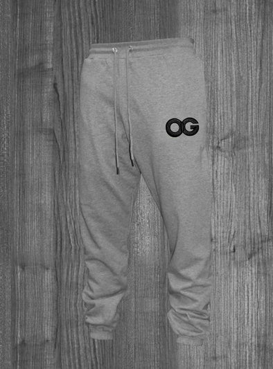 OG SWEATPANTS.  HEATHER GREY / BLACK