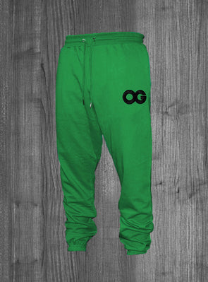OG SWEATPANTS.  KELLY GREEN / BLACK