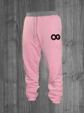 OG SWEATPANTS.  PINK & HEATHER GREY / BLACK