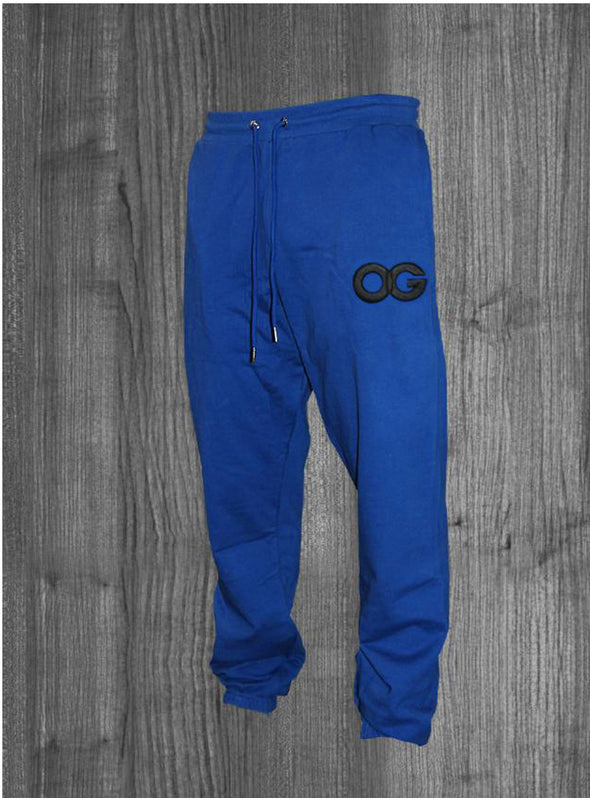 OG SWEATPANTS.  ROYAL BLUE / BLACK
