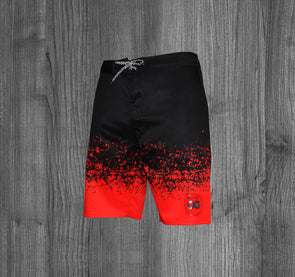 OG BOARD SHORTS.  BLACK / LAVA