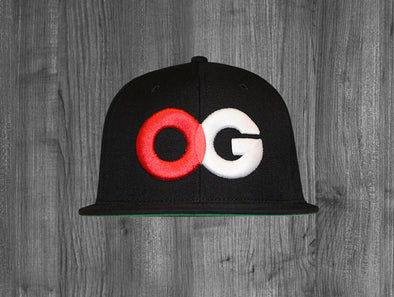 OG SNAP BACK.  BLACK / RED & WHITE