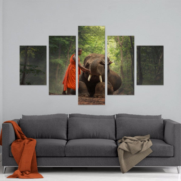 Peace Within 5 Piece Canvas