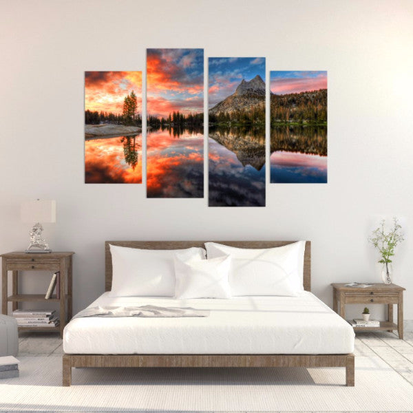 Still Sunset 4 Piece Canvas