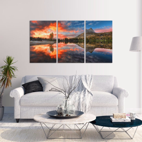 Still Sunset 3 Piece Canvas