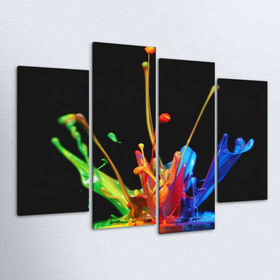Paint Drop 4 Piece Canvas
