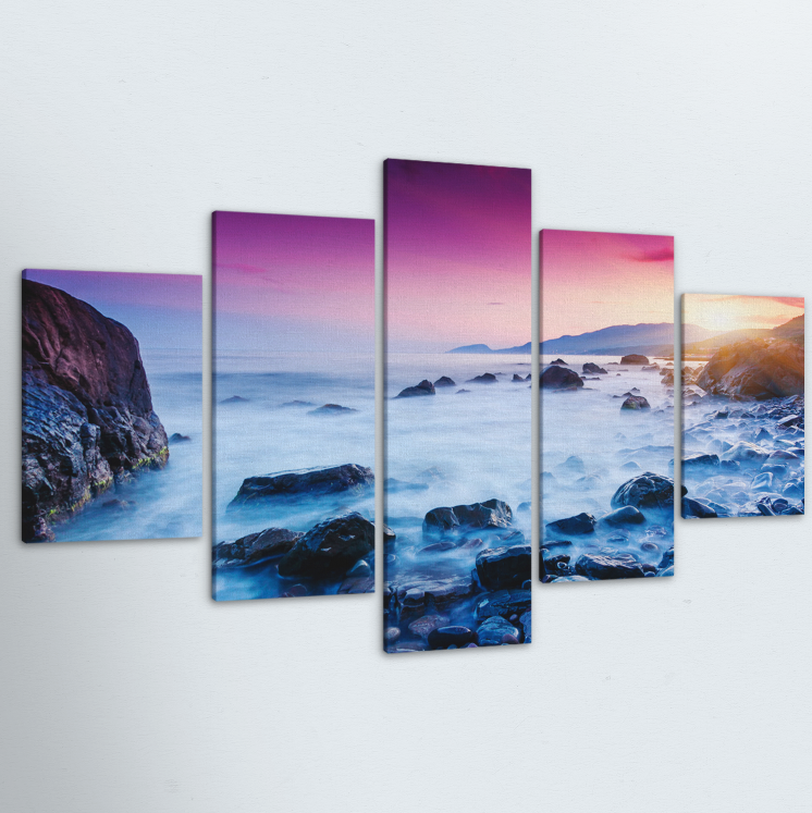 Morning Haze 5 Piece Canvas