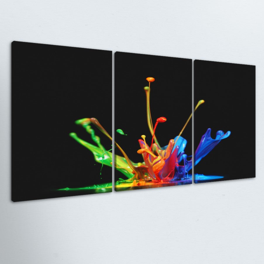 Paint Drop 3 Piece Canvas
