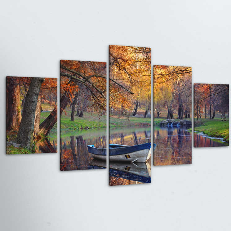 Still Morning 5 Piece Canvas