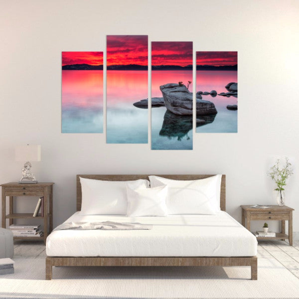 Peaceful Sunrise 4 Piece Canvas