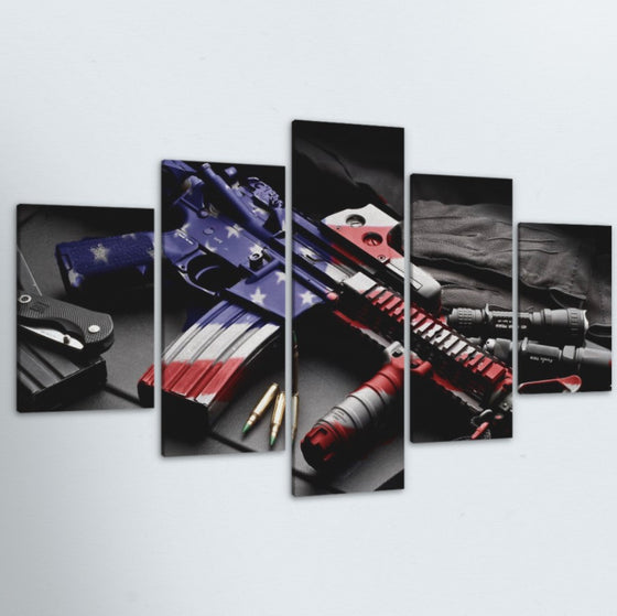 American Valor 5 Piece Canvas