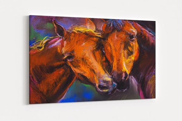 Pastel Horse Single Canvas