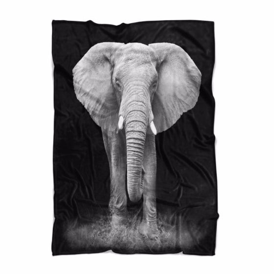 Elephant Portrait Blanket