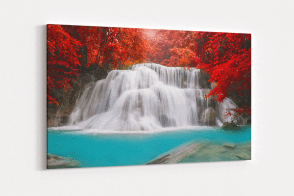 Red Oasis Single Canvas