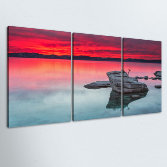 Peaceful Sunrise 3 Piece Canvas