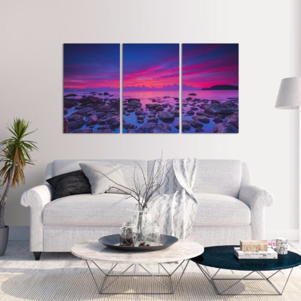 Purple Sunrise 3 Piece Canvas