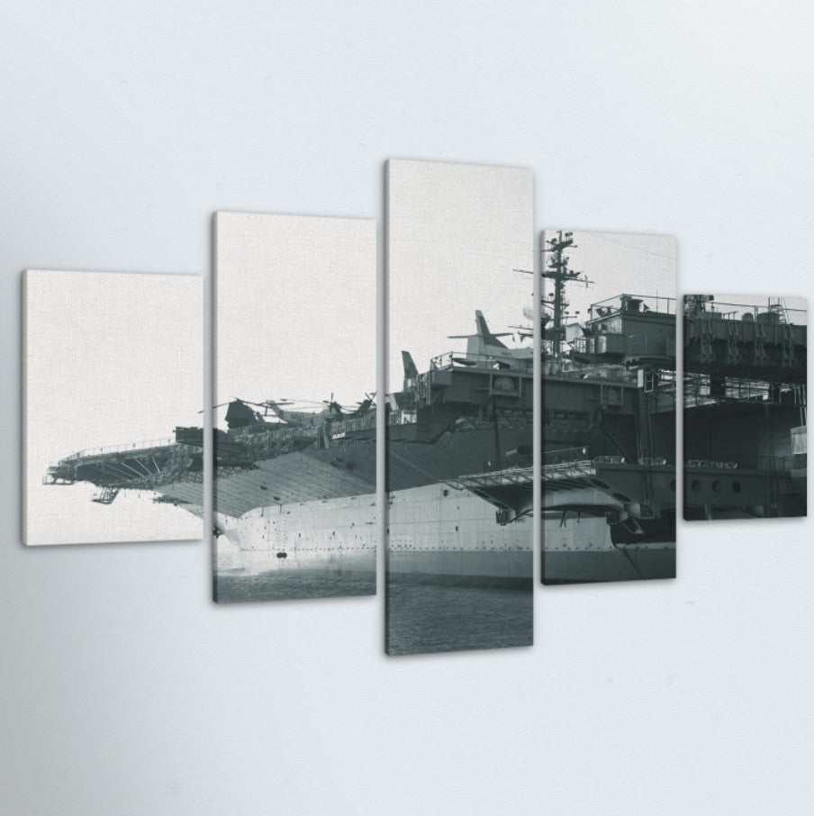 Navy Ship 5 Piece Canvas