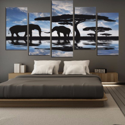 Reflections 5 Piece Canvas
