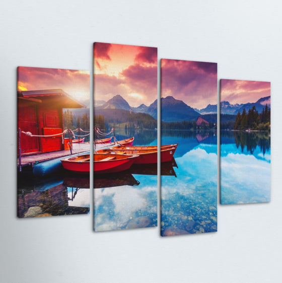 Lake Getaway 4 Piece Canvas