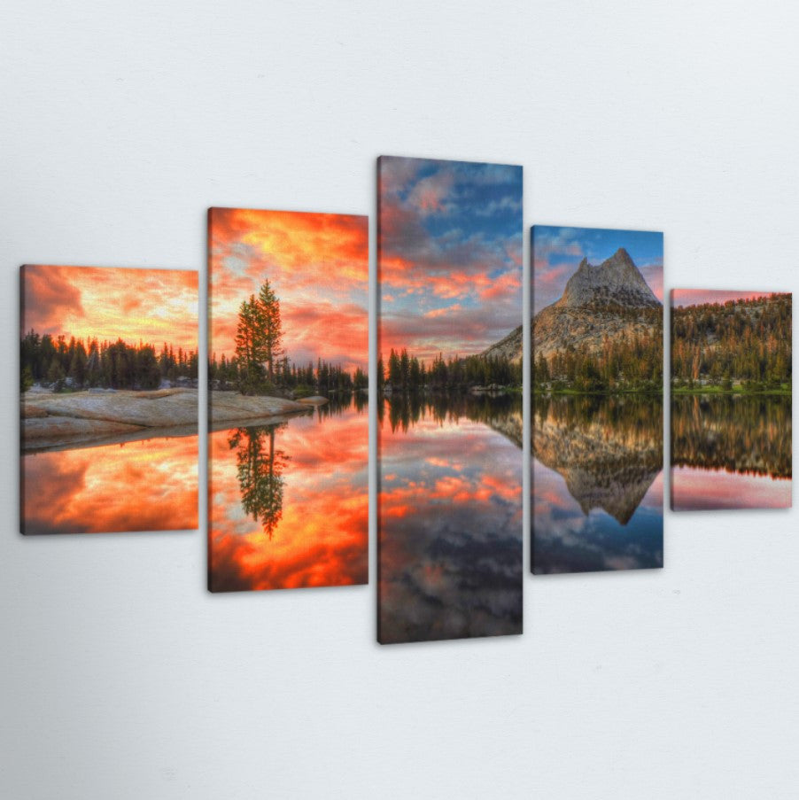 Still Sunset 5 Piece Canvas