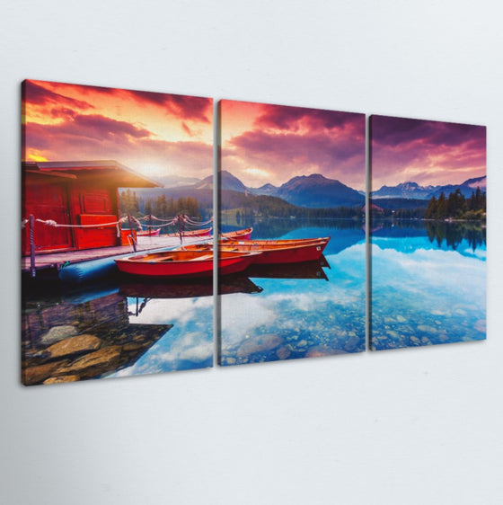 Lake Getaway 3 Piece Canvas
