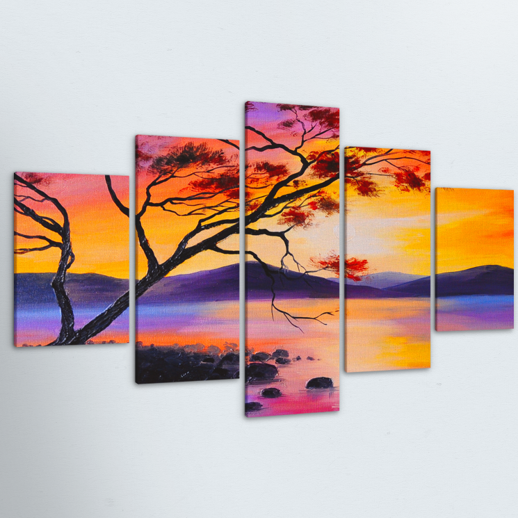 Tree Of Life 5 Piece Canvas