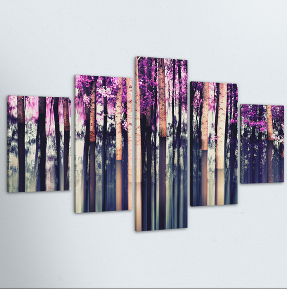 Violet Forest 5 Piece Canvas