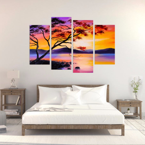 Tree Of Life 4 Piece Canvas