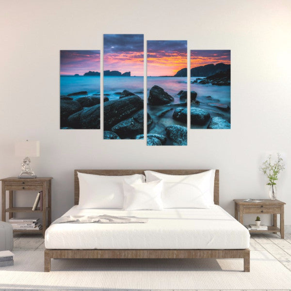 Blue Morning 4 Piece Canvas
