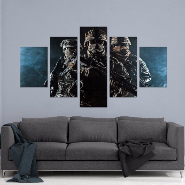 Freedom Fighters 5 Piece Canvas