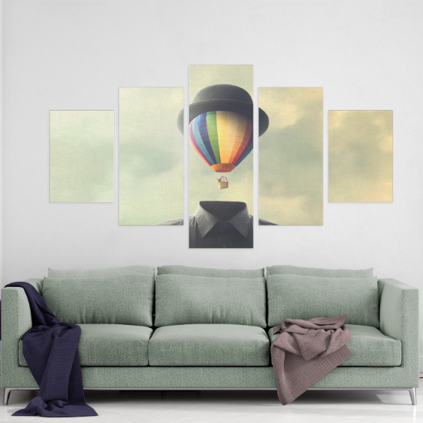 Mystery Man 5 Piece Canvas