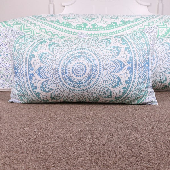 Green And Blue Mandala Bedding