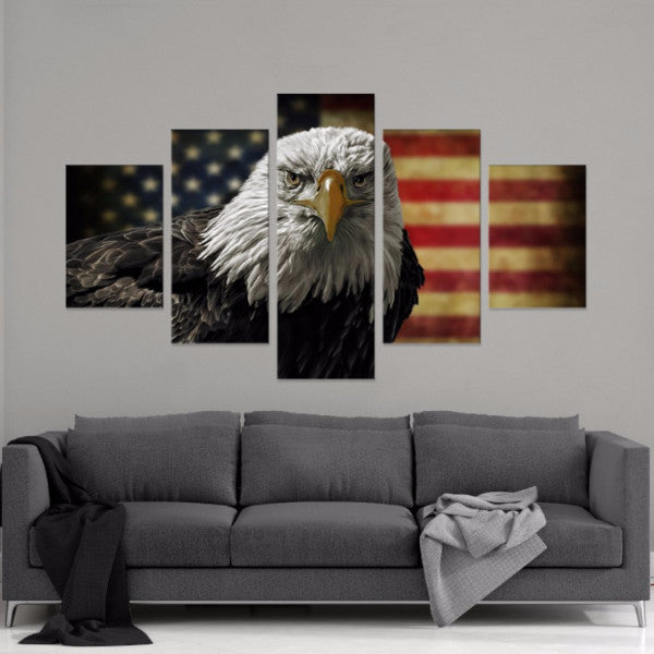 America 5 Piece Canvas